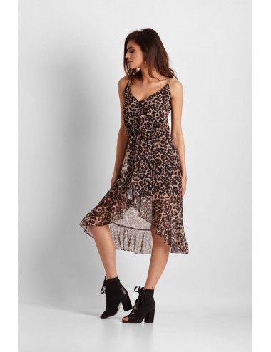 Gray check mini dress