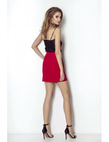 Patterned double-breasted coat